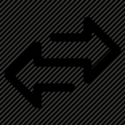 arrow, back, forward, shuffle, transfer icon
