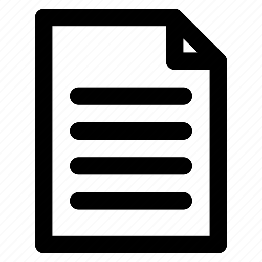 content, data, document, file, menuscript, note, paper icon