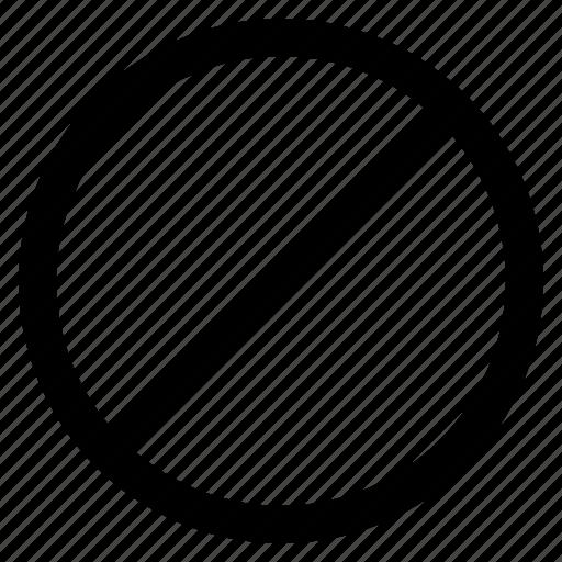 ban, deny, forbidden, prohibit, refuse icon