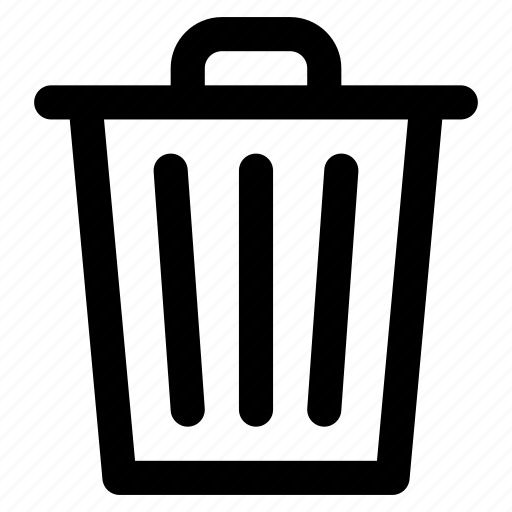 bin, can, delete, gabage, recycle, trash icon