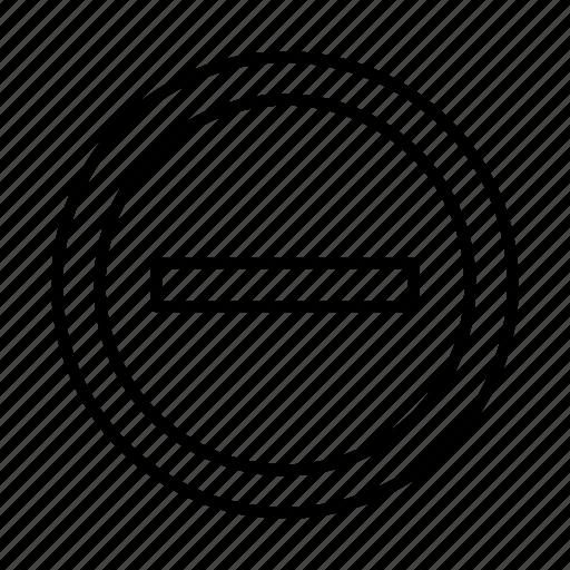 cancel, close, decline, delete, minus, remove icon