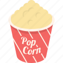 cinema, corn, movie, pop, sweet icon