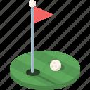 ball, flag, game, golf, grass, sport, wealth icon