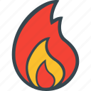 burn, fire, flame, heat, temperature icon
