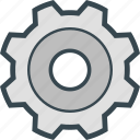 configuration, gear, preferences, settings, wheel icon