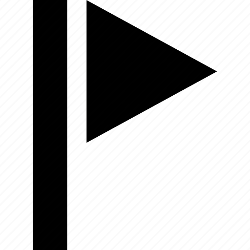 destination, flag, golf, marker, milestone, triangle icon