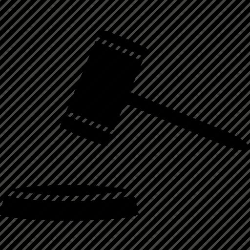 auction, case, closed, court, gavel, judge icon