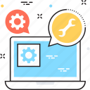 cogwheel, gear, seo, settings, technical support icon
