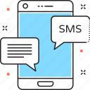 messages, mobile, mobile massage, sms, sms marketing icon