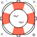 lifebuoy, lifeguard, lifesaver, ring buoy, save guard icon