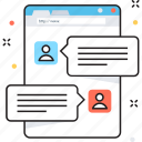 business, business communication, business development, communication, online chat icon