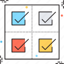 business, checklist, production, production plan, production priorities icon
