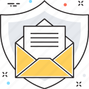 email, envelop, mail protection, protection shield, shield icon