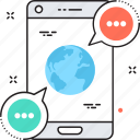 global network, m commerce, mobile, mobile banking, mobile payment icon