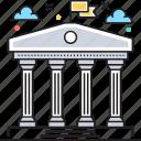 bank, building, history, institute, institute building icon