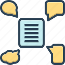 chat, chatting, communication, conversation, feedback, forum, message icon