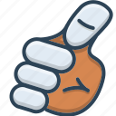 gesture, hand, hand gesture, me, myself icon