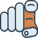 finger, gesture, gesturing, hand, point, you icon