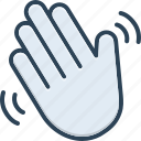 gesture, hand wave, hello, hey, hiya, howdy, welcome icon