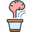 brain, development, improvement, mend, reclamation, reform, reformation icon