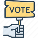 ballot, casting, election, poll, polling, vote, voting icon