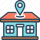 abode, address, direction, domicile, dwelling, home, location icon