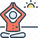 aerobics, being, fitness, health, meditate, working out, yoga icon