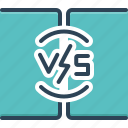 battle, challenge, comparison, competition, contest, versus, vs