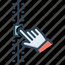control, volume, arrangement, meter, readjustment, adjustment, regulation icon