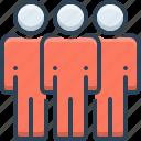 company, group, togetherness, accompaniment icon