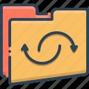 restart, promotion, reopen, renew, open icon