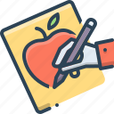 craft, drawing, graphic, handdrawing, painting, sketch icon