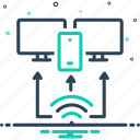 arrangement, network, access, plan, providing, technology, provision icon