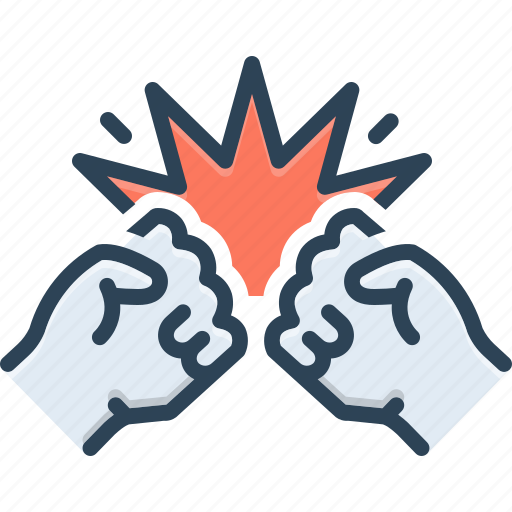 Aggressive, angry, belligerent, fiery, fight, punch, revolution icon - Download on Iconfinder