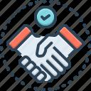 agreement, business, collaboration, cooperation, deal, handshake, settlement