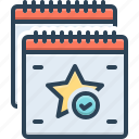 bookmark, favorite, feature, list, particular, project, special