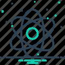 atom, atomizing, molecules, orbiting, particle, quantum icon