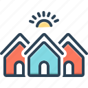 apartment, buildings, homes, housing, residences, residential, shelter icon