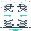 circuit, electronics, information, motherboard, software, teachnology, technology icon