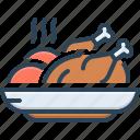 food, meal, meat, chicken, piece, eatable, foodstuff