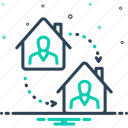 adjacent, dislodge, displace, move, reposition, shift, shifting