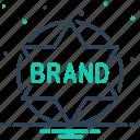 brand, label, quality, stamp, sticker, tag, variety