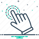 cursor, finger, hand, hand cursor, pointer, touchscreen icon