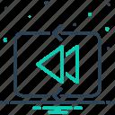 heretofore, play previous, already, earlier, previous, antecedently, arrow icon