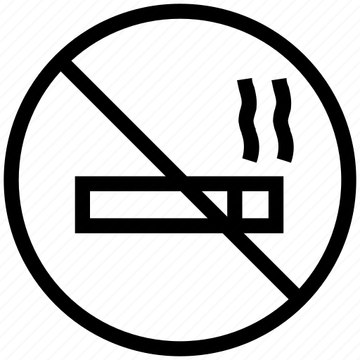 cigarette prohibition, no smoking, smoking forbidden, smoking prohibited, smoking restricted icon