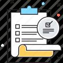 business, checklist, finance, paperwork, work icon