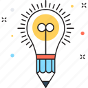 bulb, creation, creativity, idea, idea development icon