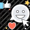 buzz, buzz marketing, marketing, smileys, social network icon