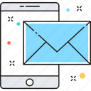 inbox, mobile email, mobile message, mobile sms, sms icon
