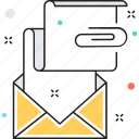 email, email attachment, envelop, news, newsletter icon
